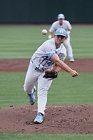 North Carolina Tar Heels starting pitcher Austin Love (44) in action against the Duke Blue Devils at Boshamer Stadium on April 9, 2021 in Chapel Hill, North Carolina. (Andy Mead/Four Seam Images)
