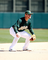 Joe Dillon - Oakland Athletics - 2009 spring training.Photo by:  Bill Mitchell/Four Seam Images