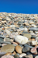 Smooth beach rocks.