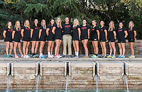 STANFORD, CA - October 21, 2015: The Stanford Cardinal 2015-2016 Women\'s Squash Team.