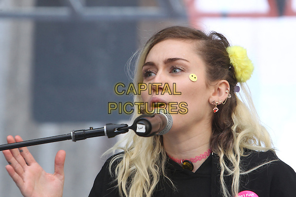 ALos Angeles CA - JANUARY 21: Miley Cyrus, At Women's March Los Angeles, At Downtown Los Angeles In California on January 21, 2017. <br /> CAP/MPI/FS<br /> ©FS/MPI/Capital Pictures