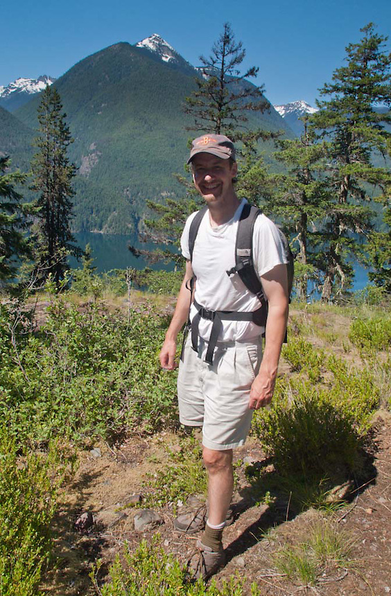 Joe on the Trail to Desolation Peak, North Cascades National Park, Washington, US