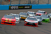 NASCAR Xfinity Series<br /> DC Solar 200<br /> ISM Raceway, Phoenix, AZ USA<br /> Saturday 10 March 2018<br /> Christopher Bell, Joe Gibbs Racing, Toyota Camry Rheem and Justin Allgaier, JR Motorsports, Chevrolet Camaro BRANDT Professional Agriculture<br /> World Copyright: Russell LaBounty<br /> NKP / LAT Images