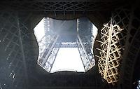 Paris: Eiffel Tower--looking up.