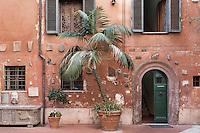 Ancient Roman facade, Rome, Italy