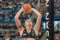 6th June 2021; Ken Rosewall Arena, Sydney, New South Wales, Australia; Australian Suncorp Super Netball, New South Wales, NSW Swifts versus Giants Netball; Jo Harten of the Giants Netball takes a shot at goal