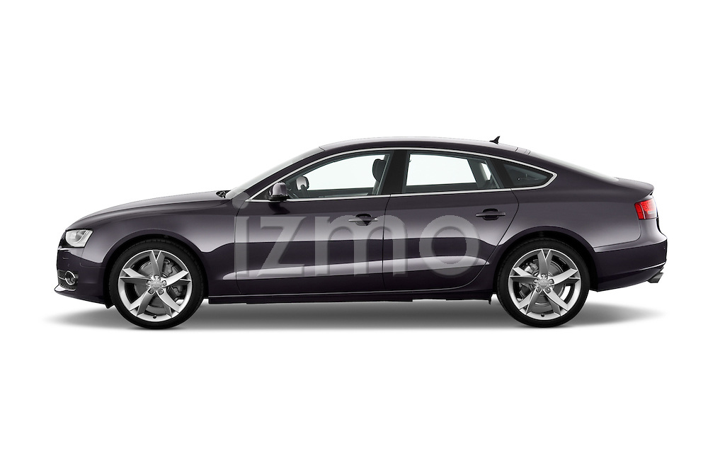 Driver side profile view of a 2009 - 2011 Audi A5 Ambition Luxe Sportback 5-Door Hatchback.