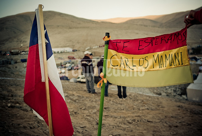 Relatives and friends of 33 miners trapped inside San Jose mine in Northern Chile camp near rescue teams digging desperately to find survivors after a collapse August 5th. Miners are believed to be alive in some shelter inside the mine, 700 meters undeground.