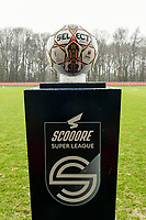 matchball pictured before a female soccer game between Standard Femina de Liege and Eendracht Aalst on the 12 th matchday of the 2020 - 2021 season of Belgian Scooore Womens Super League , saturday 30 th of January 2021 in Angleur , Belgium . PHOTO SPORTPIX.BE   SPP   STIJN AUDOOREN
