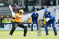 D'Arcy Short, Trent Rockets cuts backward of point during London Spirit Men vs Trent Rockets Men, The Hundred Cricket at Lord's Cricket Ground on 29th July 2021