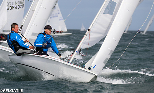 Flying Fifteen racing on Dublin Bay Photo: Afloat