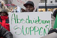 """Protest vor der Botschaft von Mali in Berlin.<br /> Ca. 150 Menschen demonstrierten am Dienstag den 31. Januar 2017 in Berlin vor der Botschaft von Mali gegen die Ruecknahmeabkommen der Bundesregierung mit afrikanischen Laendern, so auch Mali. Sie warfen der Bundesregierung vor mit korrupten Diktaturen zusammenzuarbeiten, um die Flucht von Menschen aus Armut und Unterdrueckung zu verhindern.<br /> Deutschland und andere europaeische Staaten schieben immer oefter Menschen nach Mali ab. Die Bundesregierung und die EU setze im Rahmen des """"Valetta-Prozesses"""" unter anderem Mali unter Druck, bei Abschiebungen mitzuwirken.<br /> Die Demonstranten forderten den Stopp der Rueknahmeabkommen und den Ruecktritt des malischen Botschafters, der gleichzeitig fuer 10 weitere afrikanische Laender als Botschafter taetig ist.<br /> 31.1.2017, Berlin<br /> Copyright: Christian-Ditsch.de<br /> [Inhaltsveraendernde Manipulation des Fotos nur nach ausdruecklicher Genehmigung des Fotografen. Vereinbarungen ueber Abtretung von Persoenlichkeitsrechten/Model Release der abgebildeten Person/Personen liegen nicht vor. NO MODEL RELEASE! Nur fuer Redaktionelle Zwecke. Don't publish without copyright Christian-Ditsch.de, Veroeffentlichung nur mit Fotografennennung, sowie gegen Honorar, MwSt. und Beleg. Konto: I N G - D i B a, IBAN DE58500105175400192269, BIC INGDDEFFXXX, Kontakt: post@christian-ditsch.de<br /> Bei der Bearbeitung der Dateiinformationen darf die Urheberkennzeichnung in den EXIF- und  IPTC-Daten nicht entfernt werden, diese sind in digitalen Medien nach §95c UrhG rechtlich geschuetzt. Der Urhebervermerk wird gemaess §13 UrhG verlangt.]"""