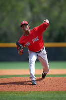 Boston Red Sox Luis Ramos (77) during a minor league Spring Training game against the Tampa Bay Rays on March 23, 2016 at Charlotte Sports Park in Port Charlotte, Florida.  (Mike Janes/Four Seam Images)
