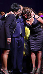Gladys Knight, Berry Gordy, Mary Wilson  during the Broadway Opening Night Performance Curtain Call for 'Motown The Musical'  at the Lunt Fontanne Theatre in New York City on 4/14/2013..