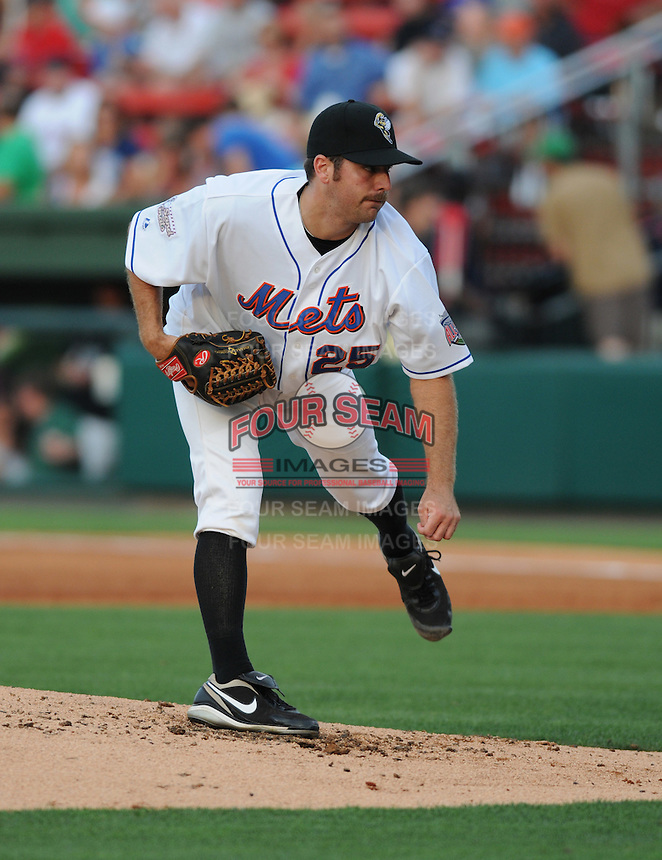 Pitcher Mark Cohoon (25) of the Savannah Sand Gnats at the 2010 South Atlantic League All-Star Game on Tuesday, June 22, 2010, at Fluor Field at the West End in Greenville, S.C. Photo by: Tom Priddy/Four Seam Images