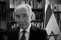 Israeli President Shimon Peres. Photo by Quique Kierszenbaum