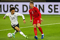 2nd June 2021, Tivoli Stadion, Innsbruck, Austria; International football friendly, Germany versus Denmark;  Leroy Sane 19 Germany and Jannik Vestergaard 3 Denmark