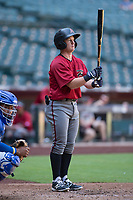 Arizona Diamondbacks shortstop Camden Duzenack (3) at bat during an Instructional League game against the Kansas City Royals at Chase Field on October 14, 2017 in Phoenix, Arizona. (Zachary Lucy/Four Seam Images)