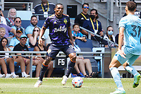 ST PAUL, MN - JULY 18: Abdoulaye Cissoko #92 of the Seattle Sounders FC during a game between Seattle Sounders FC and Minnesota United FC at Allianz Field on July 18, 2021 in St Paul, Minnesota.
