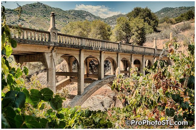 Kaweah River Bridge in Sierra Nevada Mountains built in 1923.
