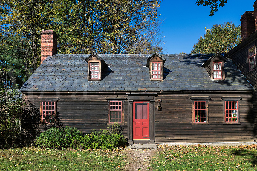 Charming colonial house in historic Deerfield, Massachusetts, USA.