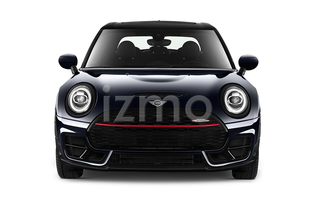 Car photography straight front view of a 2020 MINI Clubman 5 Door Wagon Front View