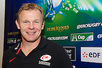 20121020 Copyright onEdition 2012©.Free for editorial use image, please credit: onEdition..Mark McCall, Saracens Director of Rugby, after the Heineken Cup Round 2 match between Saracens and Racing Metro 92 at the King Baudouin Stadium, Brussels on Saturday 20th October 2012 (Photo by Rob Munro)..For press contacts contact: Sam Feasey at brandRapport on M: +44 (0)7717 757114 E: SFeasey@brand-rapport.com..If you require a higher resolution image or you have any other onEdition photographic enquiries, please contact onEdition on 0845 900 2 900 or email info@onEdition.com.This image is copyright the onEdition 2012©..This image has been supplied by onEdition and must be credited onEdition. The author is asserting his full Moral rights in relation to the publication of this image. Rights for onward transmission of any image or file is not granted or implied. Changing or deleting Copyright information is illegal as specified in the Copyright, Design and Patents Act 1988. If you are in any way unsure of your right to publish this image please contact onEdition on 0845 900 2 900 or email info@onEdition.com