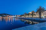 Croatia, Split, Waterfront at Dawn