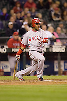 September 24, 2008: Los Angeles Angels of Anaheim's Erick Aybar at-bat during a game against the Seattle Mariners at Safeco Field in Seattle, Washington.
