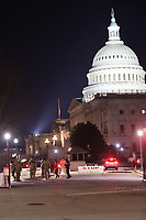 WASHINGTON, D.C. - JANUARY 10: The National Guard at the US Capitol building at the request of Governor Inslee and WSP Chief Batiste as a planned right-wing protest had been planned for Sunday, but ultimately cancelled on January 10, 2021 in Washington, D.C. <br /> CAP/MPI34<br /> ©MPI34/Capital Pictures