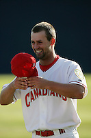 July 11 2009: Kent Walton of the Vancouver Canadians before game against the Boise Hawks at Nat Bailey Stadium in Vancouver,BC..Photo by Larry Goren/Four Seam Images