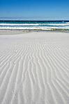 "Wind across the beach at Taylors Beach, ""The Gardens"" Bay Of Fires Conservation Area on the east coast of Tasmania, Australia."