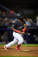 Reading Fightin Phils Cornelius Randolph (2) bats during an Eastern League game against the Trenton Thunder on August 16, 2019 at FirstEnergy Stadium in Reading, Pennsylvania.  Trenton defeated Reading 7-5.  (Mike Janes/Four Seam Images)