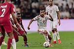 Ali Hassan Ali Salmin of United Arab Emirates (R) in action during the AFC Asian Cup UAE 2019 Semi Finals match between Qatar (QAT) and United Arab Emirates (UAE) at Mohammed Bin Zaied Stadium  on 29 January 2019 in Abu Dhabi, United Arab Emirates. Photo by Marcio Rodrigo Machado / Power Sport Images