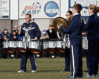 University of Connecticut Drum Corps at halftime..NCAA Tournament. Creighton University (blue) defeated University of Connecticut (white), 1-0, at Morrone Stadium at University of Connecticut on December 2, 2012.