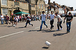 Annual Stilton Cheese Rolling Competition. Stilton village Cambridgeshire UK 2008.