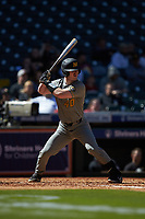 Peter Zimmermann (40) of the Missouri Tigers at bat against the Baylor Bears in game one of the 2020 Shriners Hospitals for Children College Classic at Minute Maid Park on February 28, 2020 in Houston, Texas. The Bears defeated the Tigers 4-2. (Brian Westerholt/Four Seam Images)