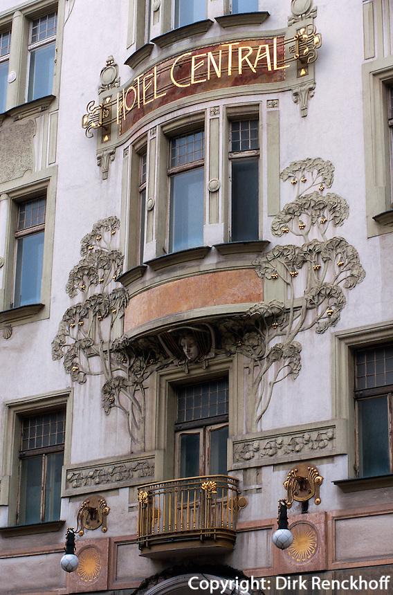 Hotel Central in der Hybernska, Prag, Tschechien, Unesco-Weltkulturerbe.