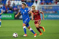 Finland's Annika kukkonen and Spain's Amanda Sampedro during the match of  European Women's Championship 2017 at Leganes, between Spain and Finland. September 20, 2016. (ALTERPHOTOS/Rodrigo Jimenez) NORTEPHOTO