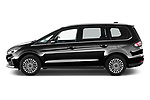 Car Driver side profile view of a 2021 Ford Galaxy Titanium 5 Door Minivan Side View