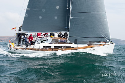 The Murphy family's Grand Soleil 40 Nieulargo from Crosshaven was winner of both the Kinsale-Fastnet-Kinsale and the Fastnet 450 races.  Photo: Robert Bateman