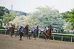 9 APR - Cliff Barry leads Win Willy (1) from the outside to take the lead during the 65th running of the Oaklawn Park Handicap.