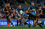 Sonny Bill Williams of the Blues offloads during the Super Rugby Match between the Blues and the Chiefs, Eden Park, Auckland,  New Zealand. Friday 26  May 2017. Photo: Simon Watts / www.bwmedia.co.nz