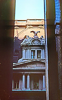 "St. Louis: Old Post Office. Taken from fire escape, Arcade Building. Sculpture  ""Miss America at War and Peace."" Photo '77."