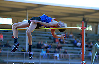 Hamish Kerr competes in the elite men's high jump. 2021 Capital Classic athletics at Newtown Park in Wellington, New Zealand on Saturday, 20 February 2021. Photo: Dave Lintott / lintottphoto.co.nz