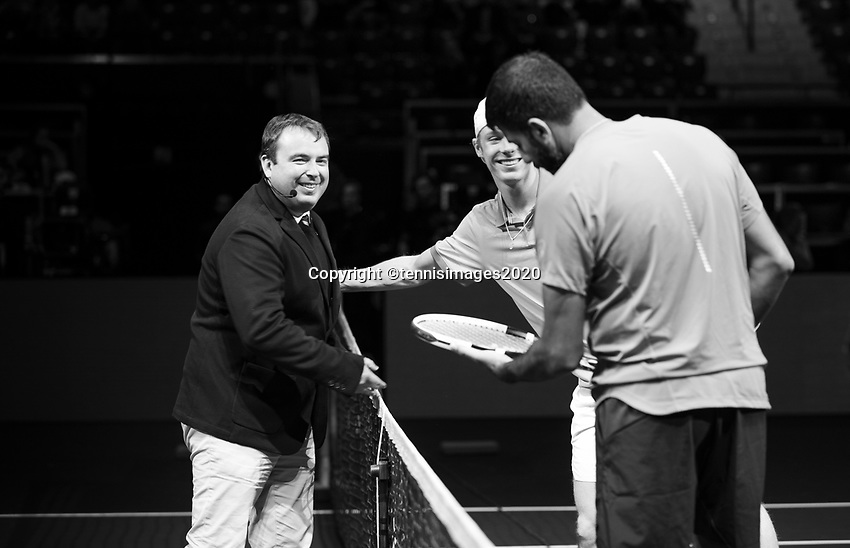 Rotterdam, The Netherlands, 11 Februari 2020, ABNAMRO World Tennis Tournament, Ahoy, <br /> Rohan Bopanna (IND) and Denis Shpovalov (CAN).<br /> Photo: www.tennisimages.com