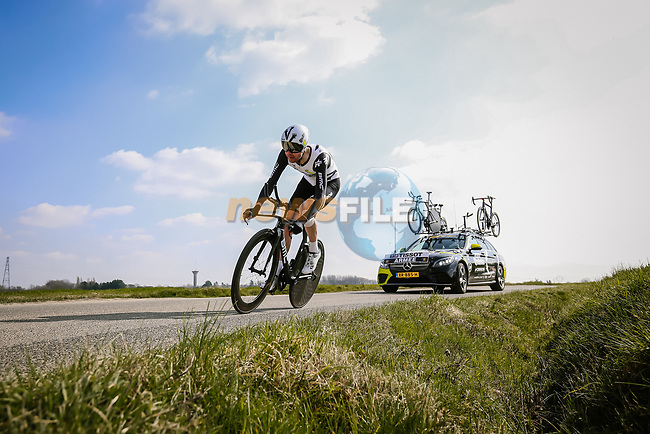 Sander Armee (BEL) Team Qhubeka Assos during Stage 3 of Paris-Nice 2021, an individual time trial running 14.4km around Gien, France. 9th March 2021.<br /> Picture: ASO/Fabien Boukla | Cyclefile<br /> <br /> All photos usage must carry mandatory copyright credit (© Cyclefile | ASO/Fabien Boukla)