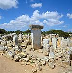 Spain, Balearic Islands, Menorca: Ancient Ruins Torralba den Salord - archaeological excavation | Spanien, Balearen, Menorca: archaeologische Ausgrabungsstaette Torralba d'en Salord (auch Torralba d'en Salort)