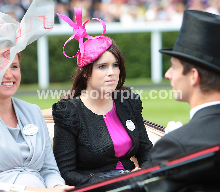 **ALL ROUND PICTURES FROM SOLARPIX.COM**.**NO UK NEWSPAPER PUBLICATION**.**UK MAGAZINE & SUPPLEMENT PUBLICATION ONLY** AND NO PUBLICATION IN AUSTRALIA, BELGIUM, FRANCE, GERMANY, ITALY, SCANDINAVIA AND USA** .Members of the Royal Family attend Ladies Day at Ascot Races, UK. 17 June 2010..This pic: Princess Eugenie..JOB REF: 11505 SFE       DATE: 17_06_2010.**MUST CREDIT SOLARPIX.COM OR DOUBLE FEE WILL BE CHARGED**.**MUST NOTIFY SOLARPIX OF ONLINE USAGE**.**CALL US ON: +34 952 811 768 or LOW RATE FROM UK 0844 617 7637**