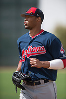 Cleveland Indians right fielder Will Benson (7) during a Minor League Spring Training game against the Chicago White Sox at Camelback Ranch on March 16, 2018 in Glendale, Arizona. (Zachary Lucy/Four Seam Images)
